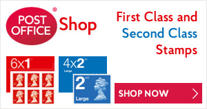 Post Office Shop - First Class and Second Class Stamps